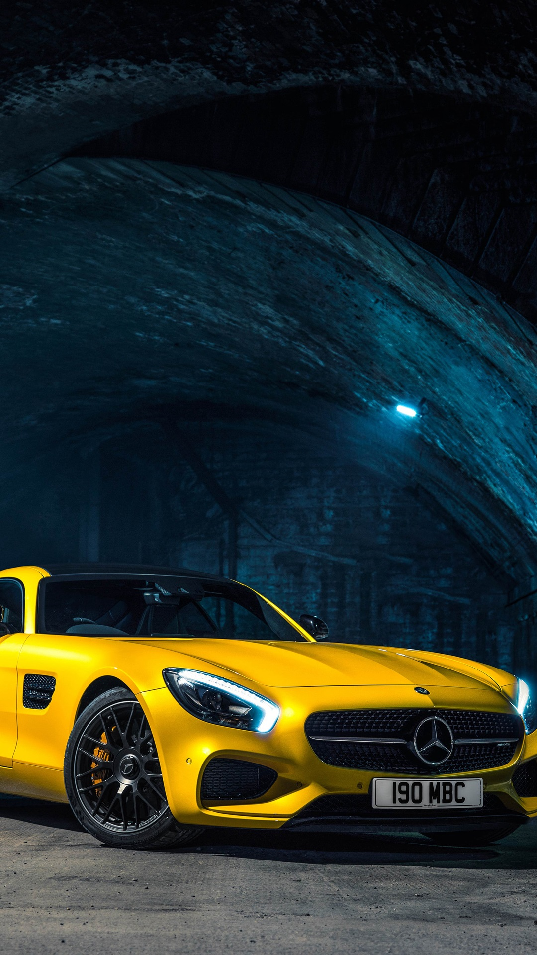 2015 Mercedes Benz Amg Gts Yellow Car Iphone Wallpaper