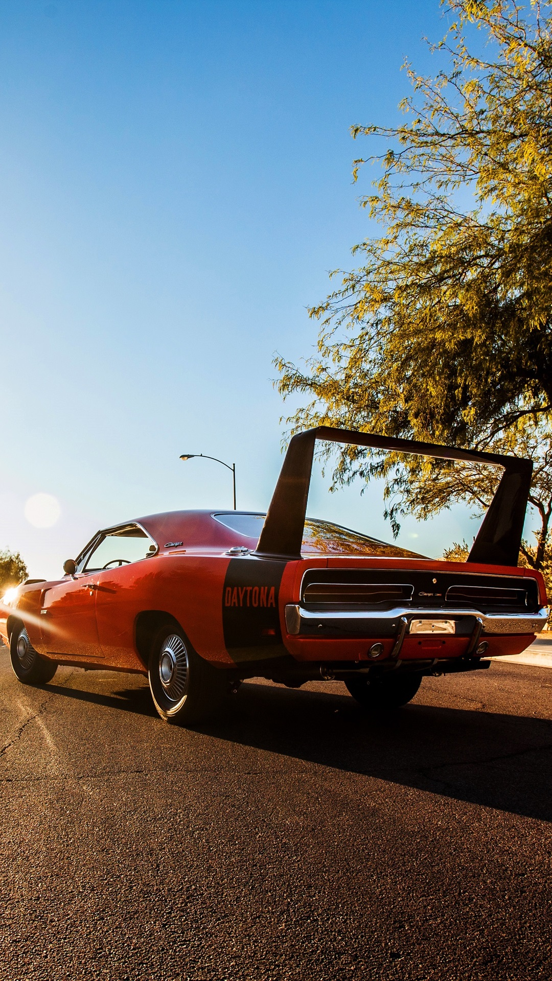 1969 Dodge Charger Supercar Rear View Iphone X 8 7 6 5 4 3gs