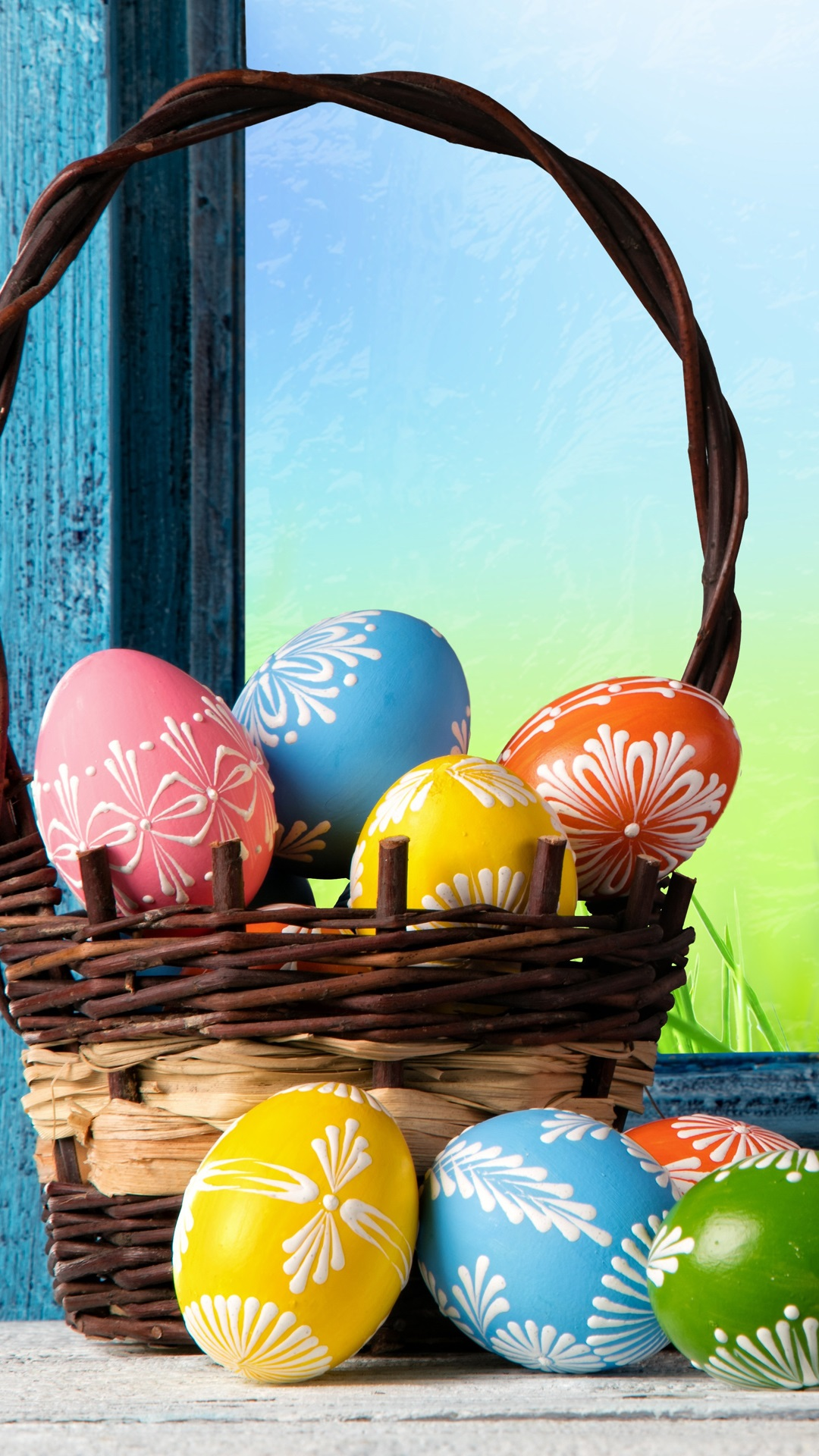 Happy Easter Colorful Eggs Basket Spring Iphone X 8 7 6 5