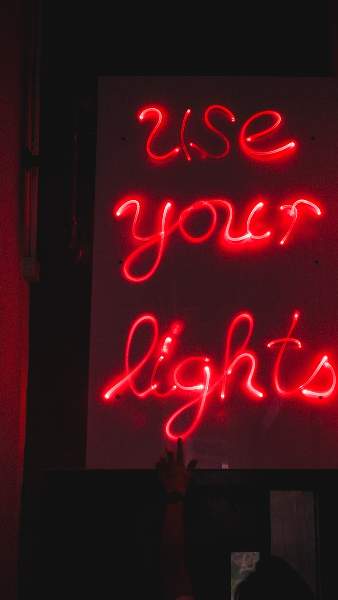 Red Neon Lights Inscription Darkness Iphone X 8 7 6 5 4