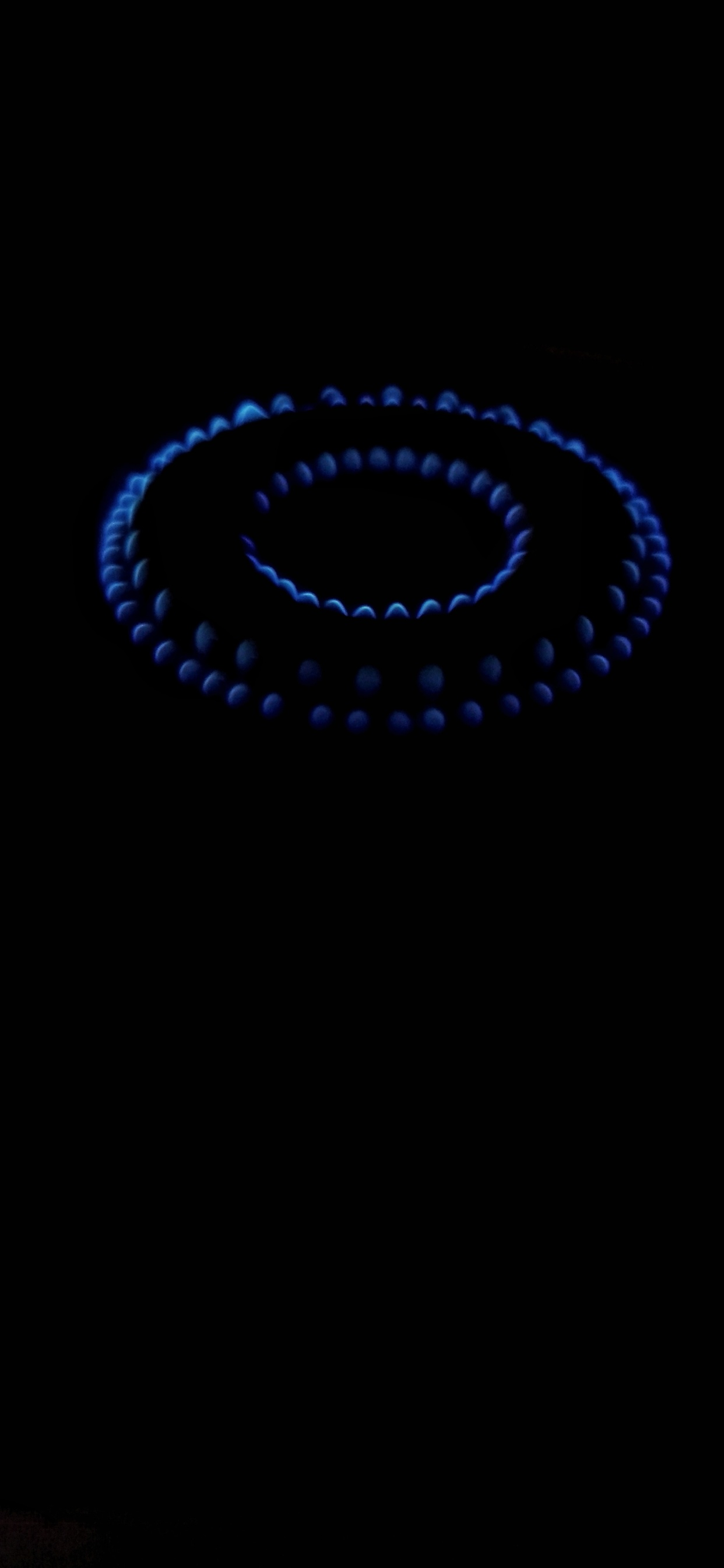 Blue Gas Fire Black Background Iphone Xs Max X 8 7 6 5 4