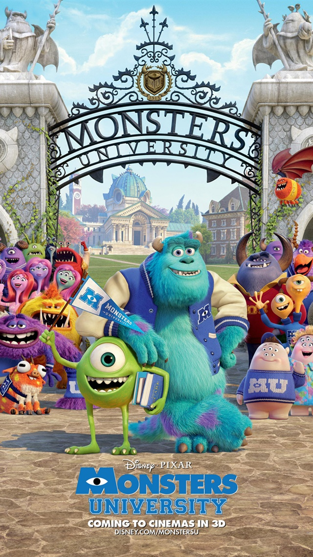 Disney Movie Monsters University IPhone Wallpaper 640x1136