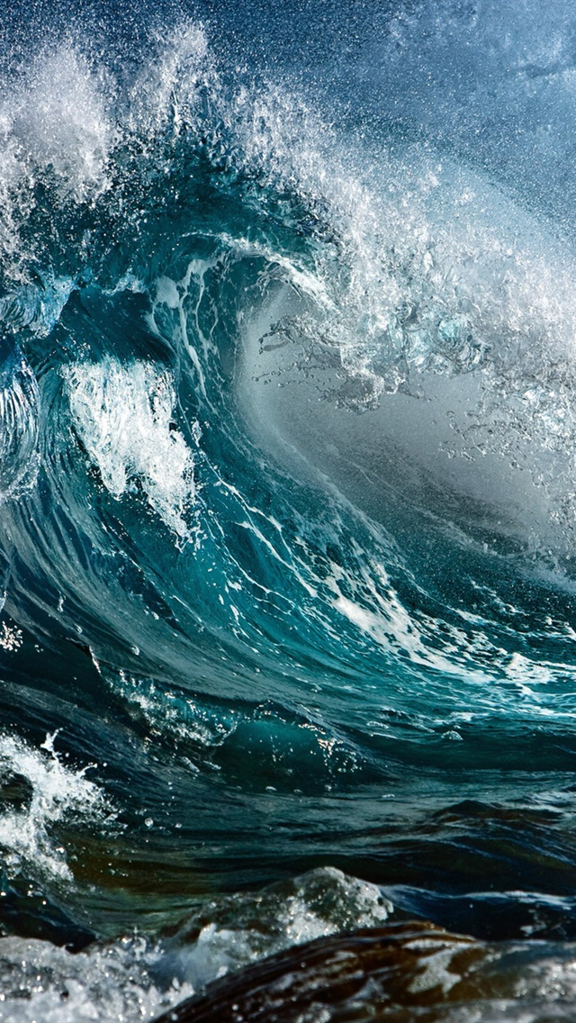 Storm sea waves iPhone Wallpaper | 640x1136 iPhone 5 (5S ...