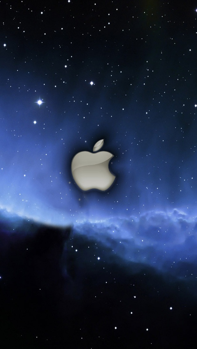 apple blue stars space iphone wallpaper 640x1136 iphone
