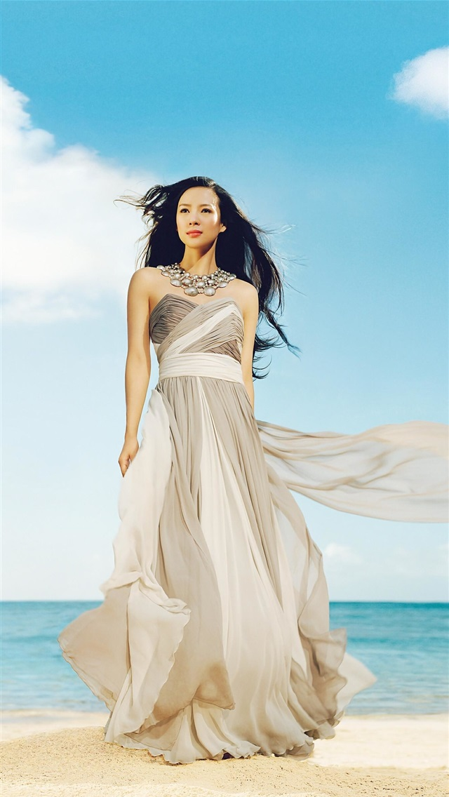 Chinese girl Zhang Ziyi 02 iPhone 5 (5S) (5C) (SE) wallpaper - 640x1136