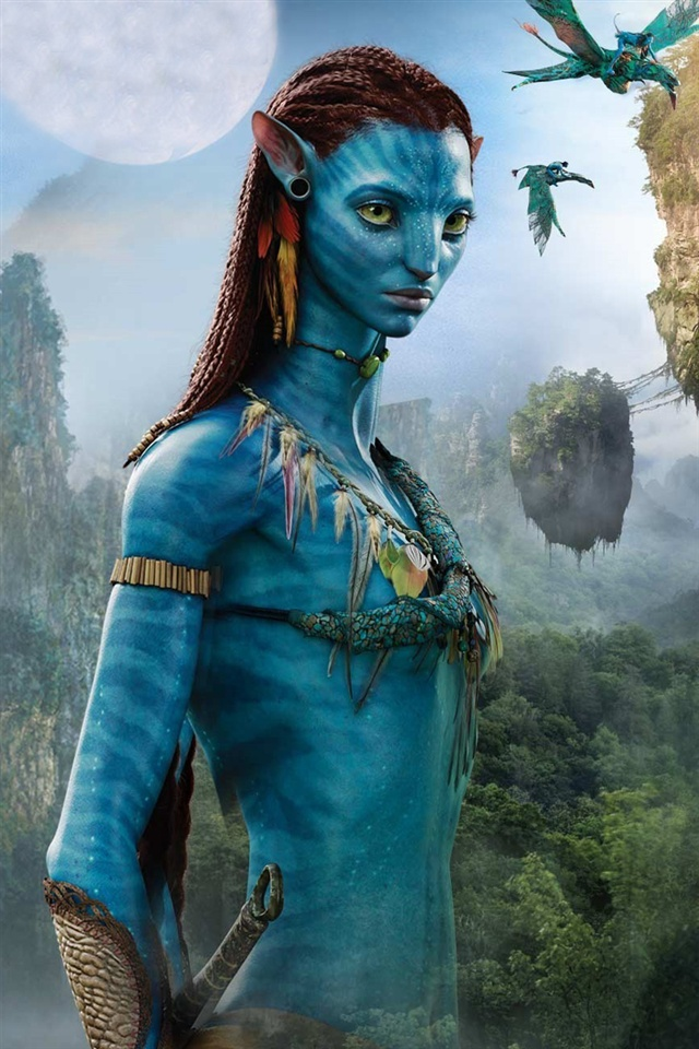 Avatar, Blue Girl Iphone X 8,7,6,5,4,3Gs Wallpaper -4139