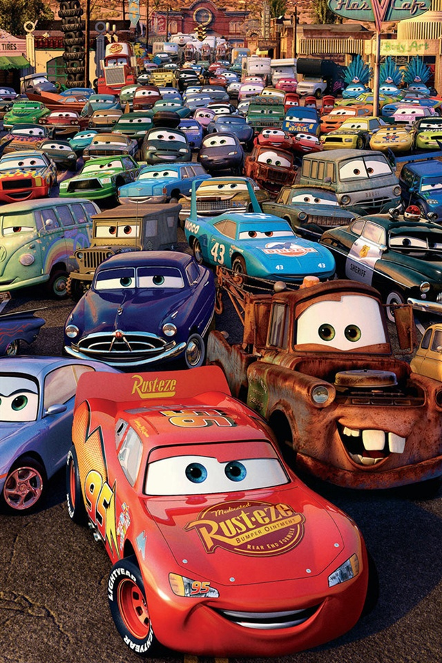cars 2 3d movie iphone wallpaper 640x960 iphone 4 4s