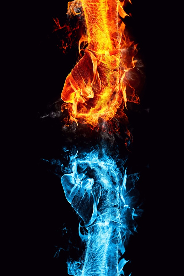 Ice and Fire showdown iPhone Wallpaper | 640x960 iPhone 4 ...