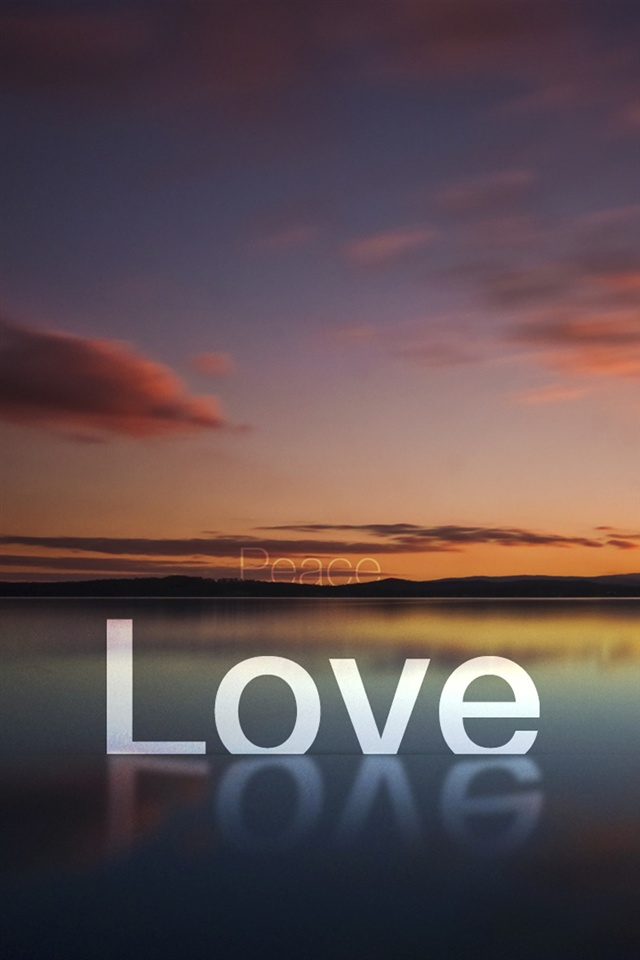 Love Wallpaper Iphone 4s : Peace And Love Iphone Wallpaper
