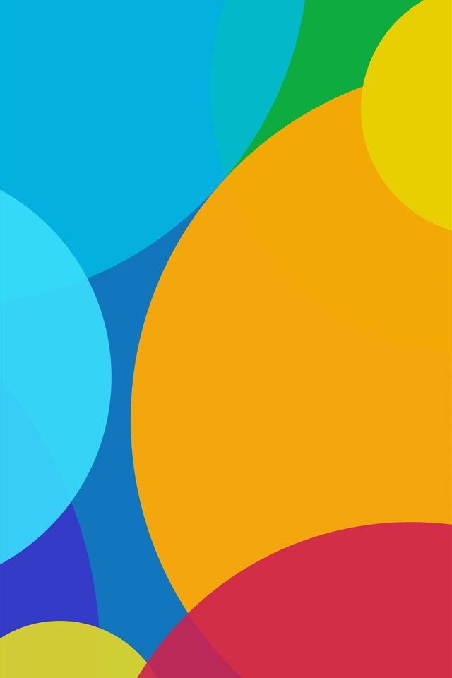 Colorful circles, abstract background iPhone 4 (4S) wallpaper - 640x960