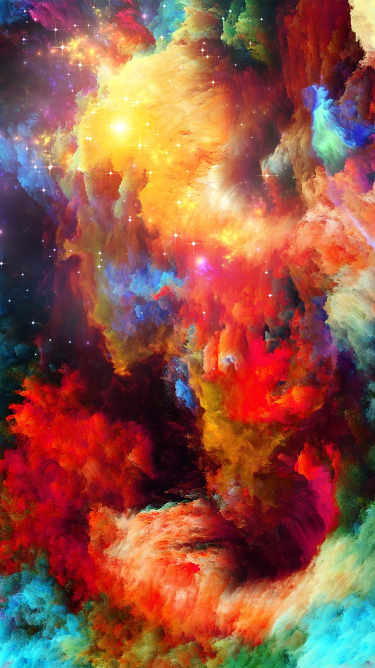 Colorful space abstract design stars iphone wallpaper for Architecture wallpaper iphone 6