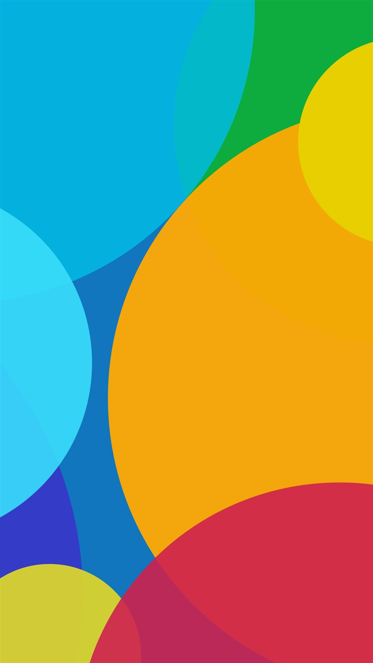 Colorful circles, abstract background iPhone 8 (7,6,6S) wallpaper - 750x1334