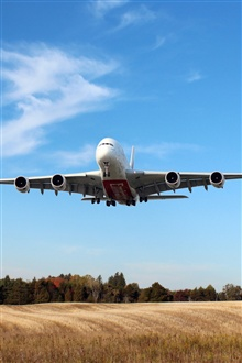 Airbus A380 Airplane flying iPhone Wallpaper Preview