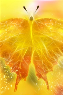 Beautiful abstract golden light butterfly iPhone Wallpaper Preview