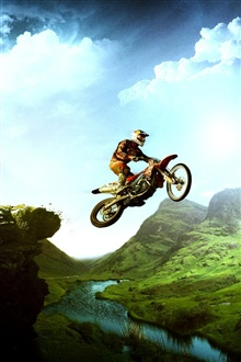 Motorcycle in sky iPhone Wallpaper Preview