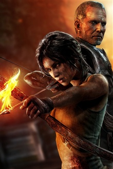 Tomb Raider 2013 iPhone Wallpaper Preview