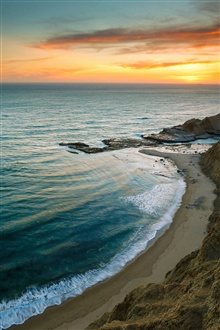 Beautiful sunrise sea beach iPhone Wallpaper Preview