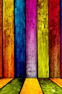 Colorful wooden abstract iPhone Wallpaper Preview