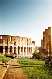 Colosseum, Italy, architecture, ruins iPhone Wallpaper Preview