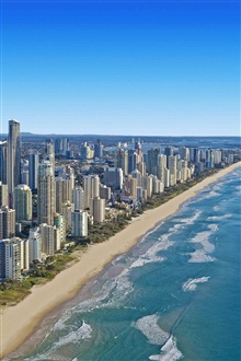 Queensland, Australia, coast, buildings iPhone Wallpaper Preview