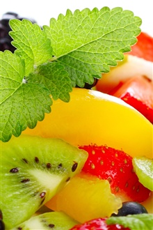 Colorful delicious fruit pieces iPhone Wallpaper Preview