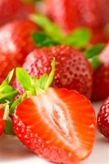 Delicious strawberry berry iPhone Wallpaper Preview