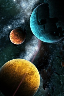 Three planets iPhone Wallpaper Preview
