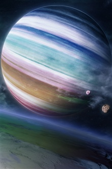 Gas giant planet iPhone Wallpaper Preview