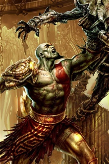 God of War 3 PC game iPhone Wallpaper Preview