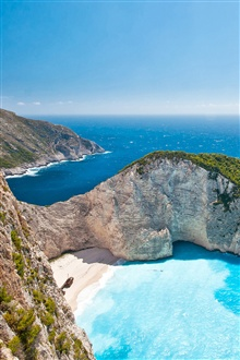 Greece Ionian Islands, sea, sky, sunlight iPhone Wallpaper Preview