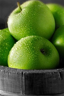 Green apples iPhone Wallpaper Preview