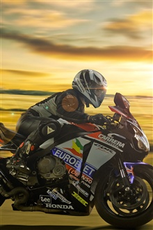 Honda motorcycle, racing iPhone Wallpaper Preview