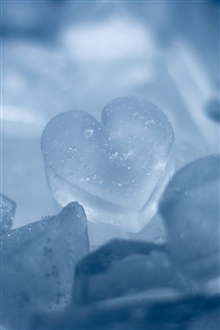 Ice Heart iPhone Wallpaper Preview