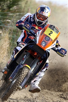 Intense motorcycle racing iPhone Wallpaper Preview