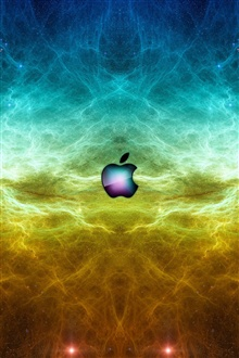 Apple in the space iPhone Wallpaper Preview