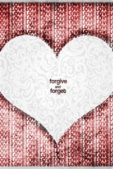 Love Heart Forgive And Forget iPhone Wallpaper Preview