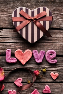 Love, gifts, flowers, ribbons iPhone Wallpaper Preview