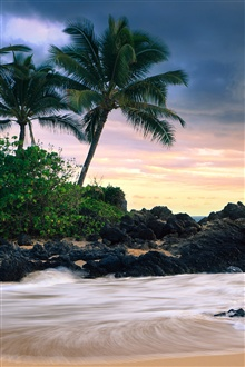 Makena Cove, Maui Island, Hawaii, secret beach iPhone Wallpaper Preview