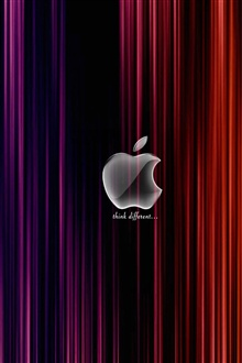 White Apple red and purple background iPhone Wallpaper Preview