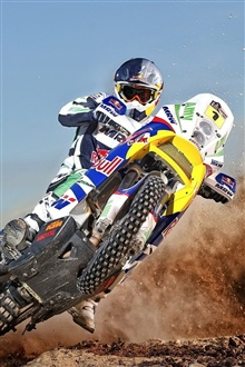 Motorcycle cross drift iPhone Wallpaper Preview