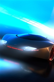 Neon light concept car iPhone Wallpaper Preview