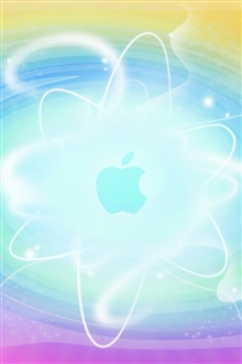 Abstract background blue Apple iPhone Wallpaper Preview