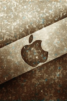 Apple brown metal background iPhone Wallpaper Preview
