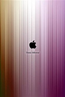 Apple think different, purple stripes iPhone Wallpaper Preview