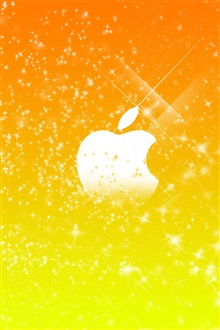 Apple yellow stars background iPhone Wallpaper Preview