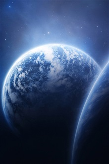 Planet Earth Space iPhone Wallpaper Preview