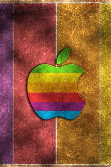 Rainbow Apple iPhone Wallpaper Preview