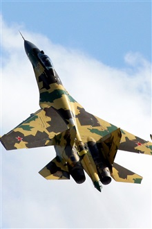 Russia Su-35 Camouflage fighter iPhone Wallpaper Preview