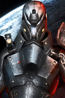 Mass Effect 3, N7, metal armor warrior iPhone Wallpaper Preview