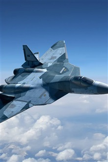 Russian multirole fighter iPhone Wallpaper Preview